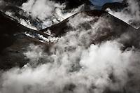 A man hiking in the Geothermal hills at Kerlingarfjöll Mountain Range, Interior of Iceland.