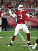 Arizona Cardinals quarterback Carson Palmer (3) throws a first quarter pass during the 2015 NFL preseason football game against the San Diego Chargers on Saturday, Aug. 22, 2015 in Glendale, Ariz. The Chargers won the game 22-19. (©Paul Anthony Spinelli)
