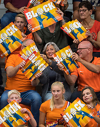 08-09-2018 NED: Netherlands - Argentina, Ede<br /> Second match of Gelderland Cup / Support, fans, public, block boards
