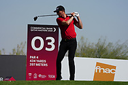 Sebastian Heisele (GER) on the 3rd during Round 2 of the Commercial Bank Qatar Masters 2020 at the Education City Golf Club, Doha, Qatar . 06/03/2020<br /> Picture: Golffile | Thos Caffrey<br /> <br /> <br /> All photo usage must carry mandatory copyright credit (© Golffile | Thos Caffrey)