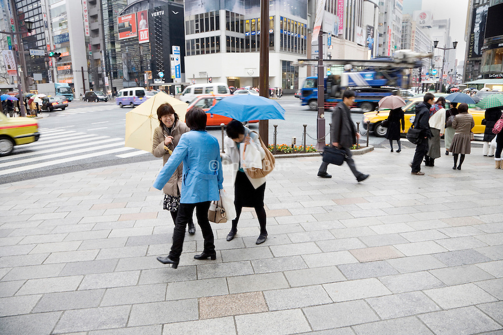 female friends meeting up Ginza Tokyo Japan