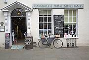 Cambridge Wine Merchants shop, Cambridge, England