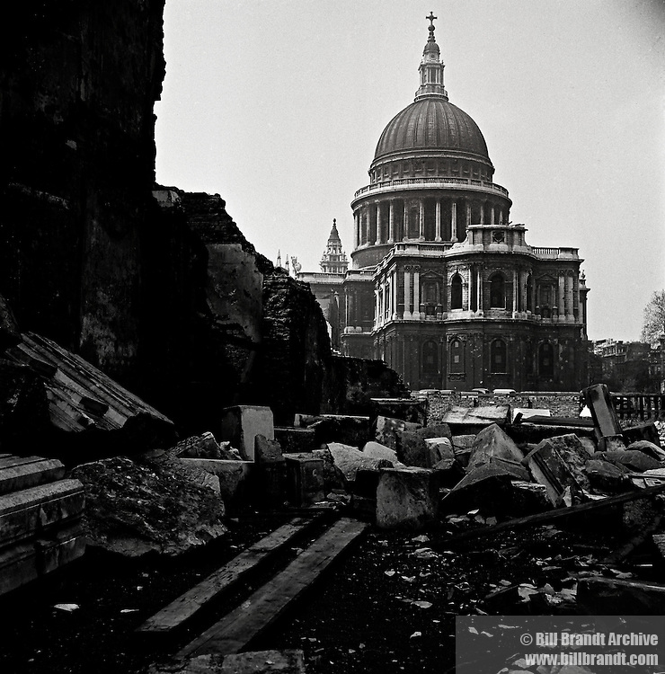 St Paul's Cathedral, after the Blitz, 1946