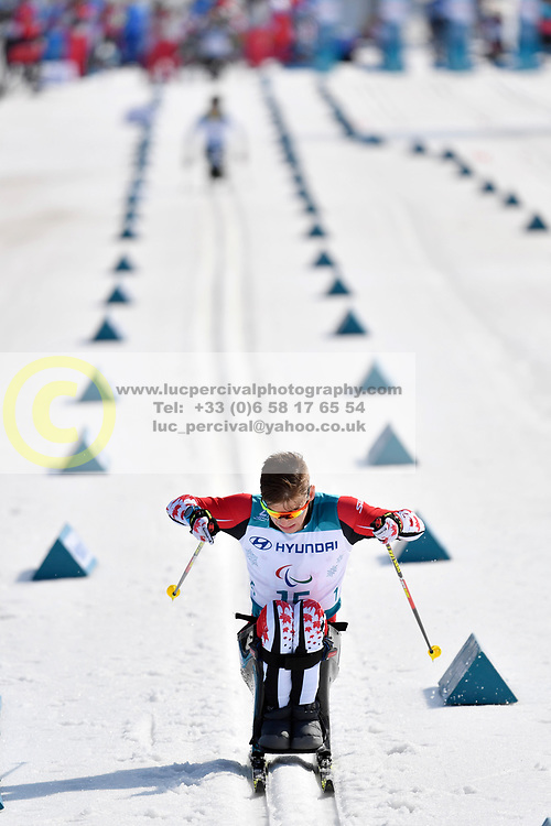 ZAPLOTINSKY Derek CAN LW10.5 competing in the ParaSkiDeFond, Para Nordic Skiing, Sprint at  the PyeongChang2018 Winter Paralympic Games, South Korea.