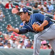San Diego's Pitcher Kazuhisa Makita picks up win #Two in spring training relief during the Padres  vs Reds, Goodyear Ballpark, March 24, 2018  Goodyear Arizona, Andres Acosta / El Paso Herald-Post