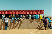 NIGER,, the refugee camp near the Agadez city