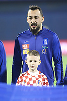 ZAGREB, CROATIA - NOVEMBER 09:  Portrait of Kostas Mitroglou of Greece during the FIFA 2018 World Cup Qualifier play-off first leg match between Croatia and Greece at Maksimir Stadium on November 9, 2017 in Zagreb, Croatia. (Sanjin Strukicl/PIXSELL)