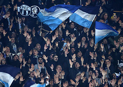 February 21, 2019 - Rome, Italy - SSC Napoli v FC Zurich - UEFA Europa League Round of 32.Zurich supporters at San Paolo Stadium in Naples, Italy on February 21, 2019. (Credit Image: © Matteo Ciambelli/NurPhoto via ZUMA Press)