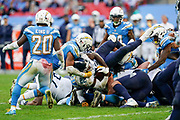 Tennessee Titans Derrick Henry RB (22) during the International Series match between Tennessee Titans and Los Angeles Chargers at Wembley Stadium, London, England on 21 October 2018.