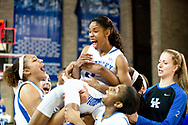 Janee Thompson.<br /> <br /> The University of Kentucky women's basketball team beat Missouri 69-59 in Lexington's Memorial Coliseum on Thursday, February 25, 2016.<br /> <br /> Photo by Elliott Hess | UK Athletics