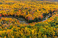Big Carp River in autumn in Porcupine Mountains Wilderness State Park in the Upper Peninsula of Michigan, USA