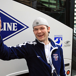 20080511: Ice Hockey - Departure of Team Slovenia, Halifax, Canada