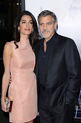 Hollywood star George Clooney was treated in hospital on Tuesday for minor injuries after a scooter accident in Sardinia, Italy on July 10, 2018 ------------ George Clooney and Amal Clooney attend the premiere of Warner Bros. Pictures Our Brand Is Crisis at TCL Chinese Theatre in Los Angeles, CA,, USA, on October 26, 2015. Photo by Lionel Hahn/ABACAPRESS.COM