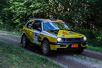 2019-09-07 | Linköping, Sweden: Fredrik Karlander / Victor Svensson during East Rally Sweden / Rally SM  at Linköping ( Photo by: Simon Holmgren | Swe Press Photo )<br /> <br /> Keywords: Linköping, Linköping, Rally, East Rally Sweden / Rally SM, ,