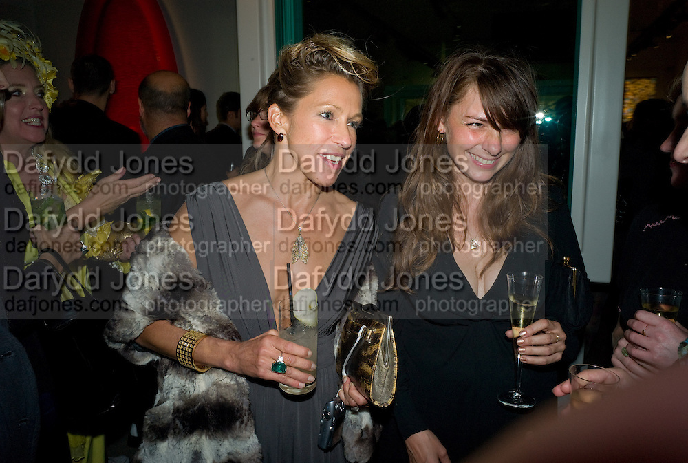 MAIA NORMAN; KAREN BEDFORD, Damien Hirst party to preview his exhibition at Sotheby's. New Bond St. London. 12 September 2008 *** Local Caption *** -DO NOT ARCHIVE-© Copyright Photograph by Dafydd Jones. 248 Clapham Rd. London SW9 0PZ. Tel 0207 820 0771. www.dafjones.com.