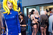 Pandemonia Panacea, kate Lomas; Isis Holt, Spawn: Bound, An exhibition of work by Ben Westwood. Bodhi Gallery. Brick Lane, 28 May 2009.  *** Local Caption *** -DO NOT ARCHIVE-© Copyright Photograph by Dafydd Jones. 248 Clapham Rd. London SW9 0PZ. Tel 0207 820 0771. www.dafjones.com.<br /> Pandemonia Panacea, kate Lomas; Isis Holt, Spawn: Bound, An exhibition of work by Ben Westwood. Bodhi Gallery. Brick Lane, 28 May 2009.
