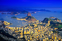 Botafogo Bay and Sugarloaf (Urca Mountain), Rio de Janeiro, Brazil