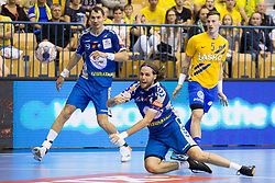 Dean Bombac of PGE Vive Kielce during handball match between RK Celje Pivovarna Lasko and PGE Vive Kielce in Group Phase A+B of VELUX EHF Champions League, on September 30, 2017 in Arena Zlatorog, Celje, Slovenia. Photo by Urban Urbanc / Sportida