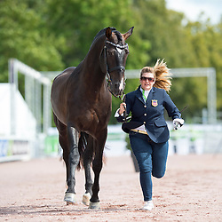 Susan Treabess, (USA), Kamiakin, - Horse Inspection Para Dressage - Alltech FEI World Equestrian Games™ 2014 - Normandy, France.<br /> © Hippo Foto Team - Jon Stroud<br /> 25/06/14