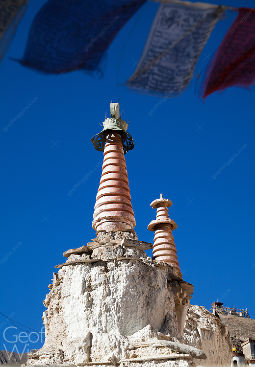 Buddhist Stupa, Lamayuru monastery, one of the largest and oldest gompas in Ladakh, Northern India