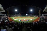 NEW TAIPEI CITY, TAIWAN - NOVEMBER 15:  A general view of Xinzhuang Stadium behind home plate during Game 2 of the 2013 World Baseball Classic Qualifier between Team New Zealand and Team Chinese Taipei at Xinzhuang Stadium in New Taipei City, Taiwan on Thursday, November 15, 2012.  Photo by Yuki Taguchi/WBCI/MLB Photos