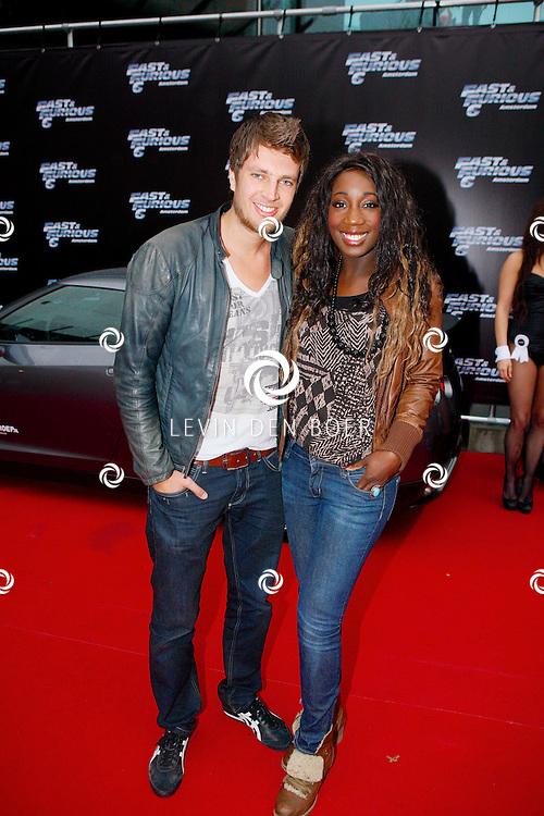 AMSTERDAM - Bij Pathe ArenA is de film 'Fast & Furious 6' in premiere gegaan. Met op de foto  Pearl Jozefzoon met ???. FOTO LEVIN DEN BOER - PERSFOTO.NU