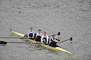London, GREAT BRITAIN, Molesey BC, VI, SEN 1 M4- Pennant Winners  Fullers Fours Head of the River Race, Raced over the reverse Championship Course, Mortlake to Putney. Saturday  [Date}. [Mandatory Credit. Peter Spurrier/Intersport Images] Rowing Course: River Thames, Championship course, Putney to Mortlake 4.25 Miles,