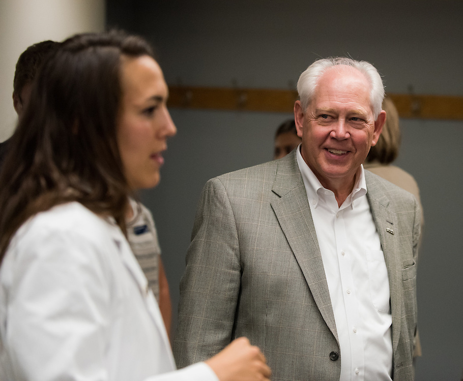 In a joint partnership between Gonzaga and the University of Washington, community members joined together to be welcomed by medical students in the newly renovated Schoenberg center on September 29th, 2016. (Photo by Edward Bell)