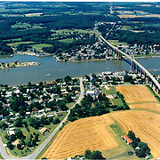 AErial photograph of Chesapeake City Maryland