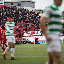 Aberdeen v Celtic, SPrem, 25th February 2018<br /> <br /> Aberdeen v Celtic, SPrem, 25th February 2018 &copy; Scott Cameron Baxter | SportPix.org.uk<br /> <br /> Aberdeen fans display banner for fan who passed away.
