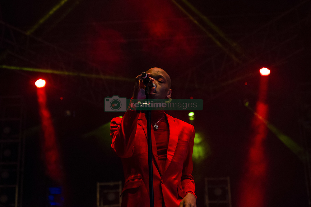 May 26, 2018 - Johannesburg, Gauteng, South Africa - South African artist, NAKHANE TOURÉ, musician and actor, perfroms at the Africa Day Festival - The Baseline Fest. In Johannesburg,  Gauteng, South Africa. (Credit Image: © Stefan Kleinowitz via ZUMA Wire)