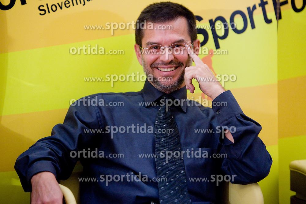 """Igor Mervic, Spar Slovenija,  na okrogli mizi na temo """"Kolajna - kljuc do blagovne znamke?"""" v organizaciji SportForum Slovenija, 24. september 2009, Austria Trend Hotel, Ljubljana, Slovenija. (Photo by Vid Ponikvar / Sportida)"""