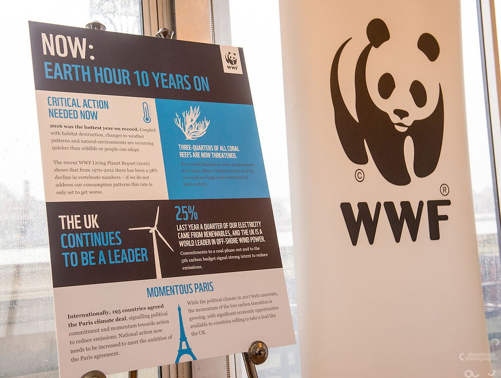 WWF UK Earth Hour 10th Anniversary Parliamentary Reception, Terrace Pavilion, Palace of Westminster. 28th Feb. 2017