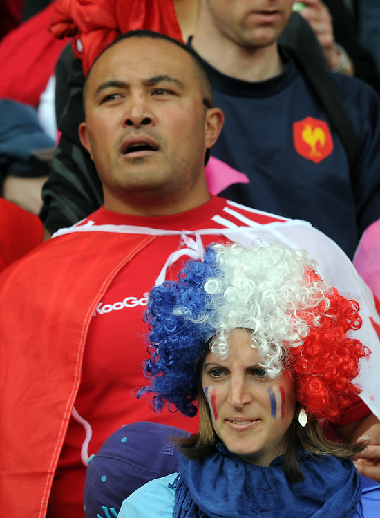Tongan and French supporters at the Rugby World Cup pool match at Wellington Stadium, Wellington, New Zealand, Saturday, October 01, 2011. Credit:SNPA / Ross Setford