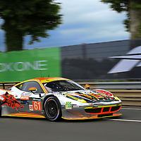 #61, Ferrari 458 Italia, Clearwater Racing, driven by, Weng Sun Mok, Keita Sawa, Rob Bell, 24 Heures Du Mans , 16/06/2016,