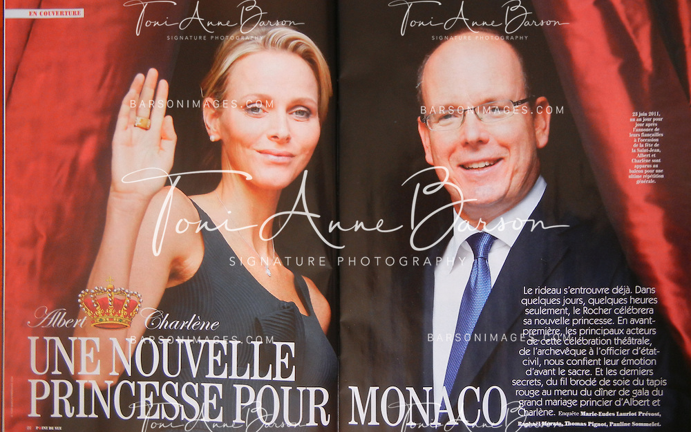 HSH Prince Albert II of Monaco and Princess Charlene  on June 23rd, 2011 - Point de Vue June 2011