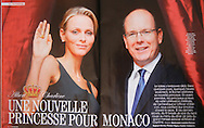 HSH Prince Albert II of Monaco and Princess Charlene  on June 23rd, 2011 - Point de Vue June 2011