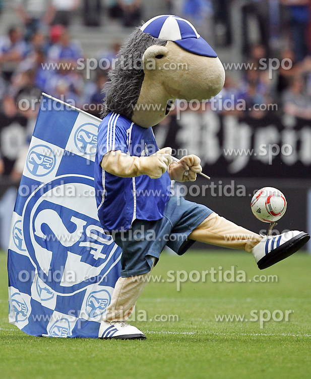 "01.08.2010,  Veltnis-Arena, Gelsenkirchen, GER, 1.FBL, Hamburger SV - 1. FC Koeln, Liga total! Cup 2010, im Bild: Schalke 04 Maskottchen 'Erwin""   EXPA Pictures © 2010, PhotoCredit: EXPA/ nph/  Mueller+++++ ATTENTION - OUT OF GER +++++ / SPORTIDA PHOTO AGENCY"