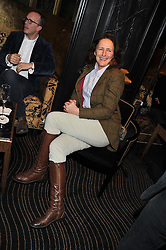 Actress FIONA SHAW at an evening of Cabaret by Nicky Haslam held in the Beaufort Bar, The Ritz, London on 11th December 2011.