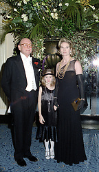 CHRISTOPHER SHAW, LADY MARY-GAYE CURZON and her daughter CRESSIDA BONAS at a party in London on 27th January 1998.MEW 12