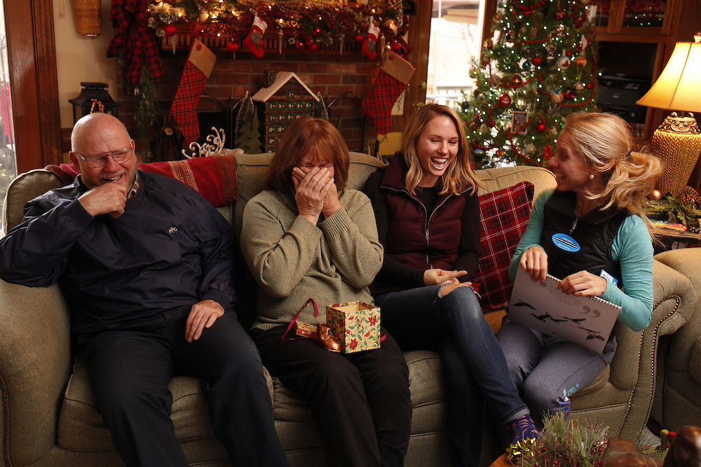 Christmas Day with the Komis' and Palmer baby reveal, Sunday, Dec. 25, 2016 at Komis Kastle in Louisville.
