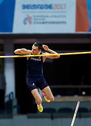 Stanley Joseph of France competes in the Men's Pole Vault Final on day one of the 2017 European Athletics Indoor Championships at the Kombank Arena on March 3, 2017 in Belgrade, Serbia. Photo by Vid Ponikvar / Sportida