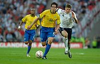 Photo: Richard Lane.<br />England v Brazil. International Friendly. 01/06/2007. <br />Brazil's Kaka attacks.