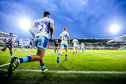 Exeter Chiefs run out at Franklin's Gardens for a Premiership Rugby 7s match against Bath Rugby- Mandatory by-line: Robbie Stephenson/JMP - 27/07/2018 - RUGBY - Franklin's Gardens - Northampton, England - Exeter Chiefs 7s v Bath Rugby 7s - Premiership Rugby 7s