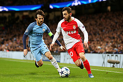 Bernardo Silva of Monaco and David Silva of Manchester City - Mandatory by-line: Matt McNulty/JMP - 21/02/2017 - FOOTBALL - Etihad Stadium - Manchester, England - Manchester City v AS Monaco - UEFA Champions League - Round of 16 First Leg