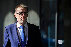 ©  London News Pictures. 28/04/2016. London, UK. GARETH STACE, UK Steel Director, arrives at Portcullis House in London to give evidence to the Commons Business Committee on the future of British steel. TATA Steel. The future of Tata Steel has been in doubt since it announced it would sell its loss-making UK business. Photo credit: Ben Cawthra/LNP