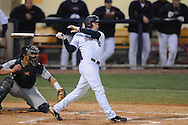 Ole Miss' Alex Yarbrough (2) hits a two RBI double in the third inning vs. Jackson State at Oxford-University Stadium in Oxford, Miss. on Tuesday, March 15, 2011.