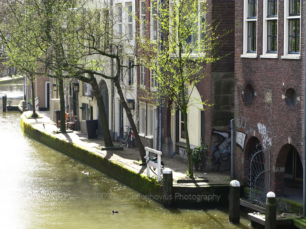 Canal Waterfront in Utrecht, Holland