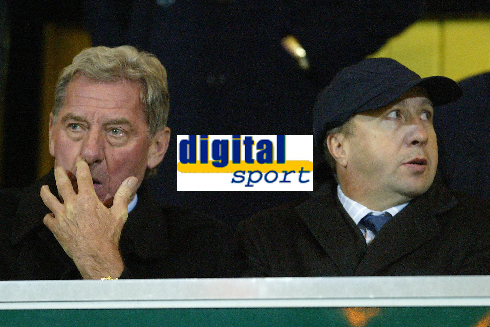 30/11/2004 - Watford v Portsmouth - Carling Cup - Quarter Final<br />Portsmouth's Chairman Milan Mandaric (l) chats with Portsmouth's new Director of Football and interim manager Velimir Zajec<br />Jed Leicester/Back Page Images