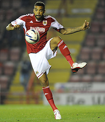 Bristol City's Liam Fontaine  - Photo mandatory by-line: Joe Meredith/JMP - Tel: Mobile: 07966 386802 27/08/2013 - SPORT - FOOTBALL - Ashton Gate - Bristol - Bristol City V Crystal Palace -  Capital One Cup - Round 2